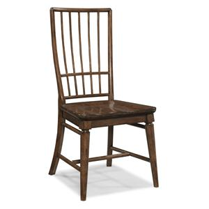 Carolina Preserves by Klaussner Blue Ridge Cherry Rake Back Side Chair