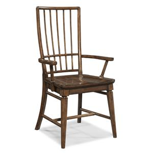 Easton Collection Blue Ridge Cherry Rake Back Arm Chair