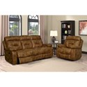 Klaussner International Cano Casual Reclining Sofa