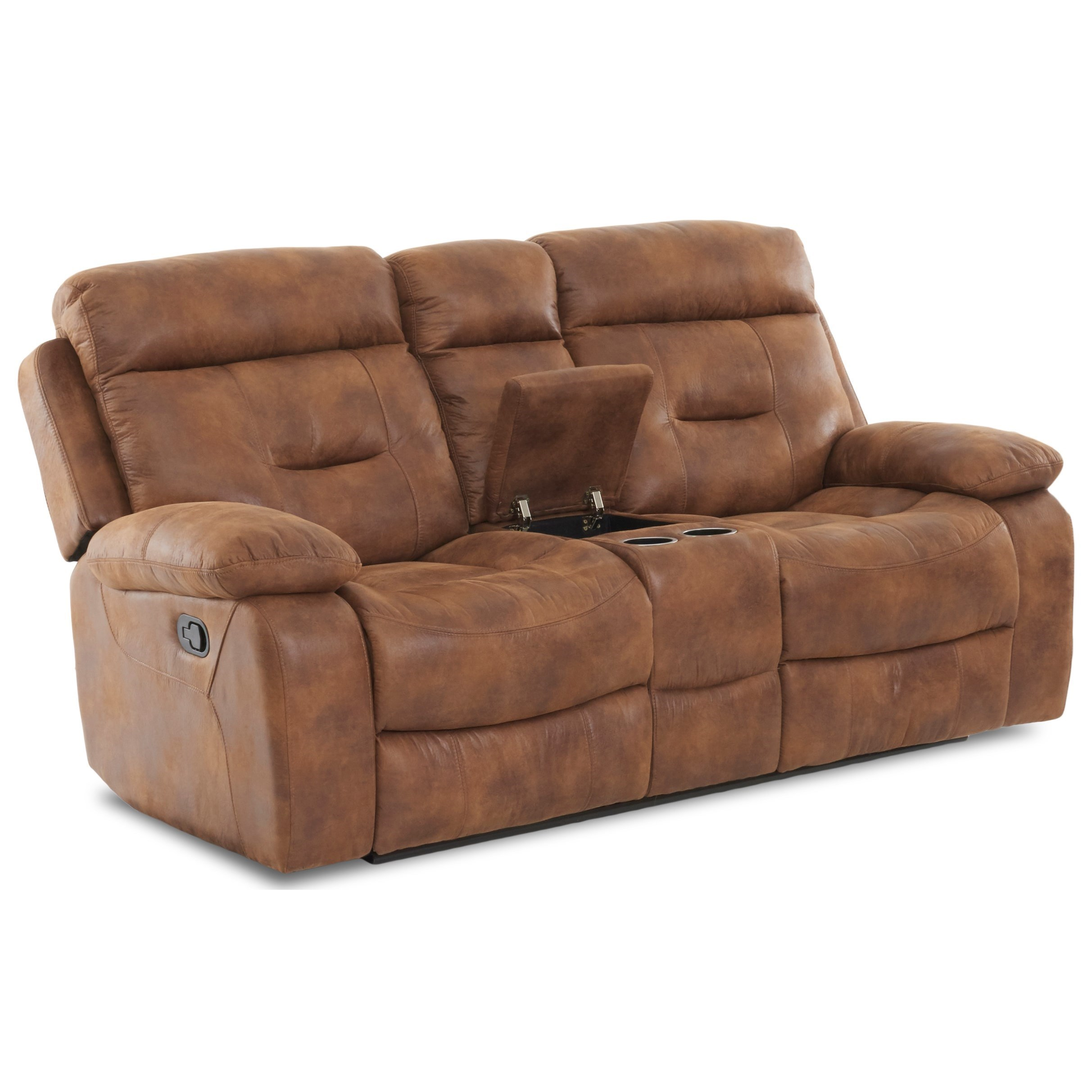 Klaussner International Cano Reclining Loveseat With