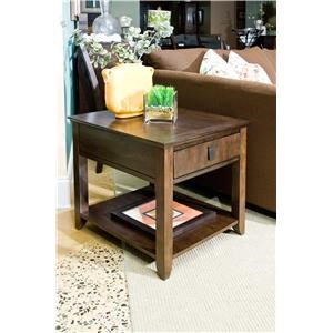 Morris Home Furnishings Falls Ave Falls Ave Contemporary End Table