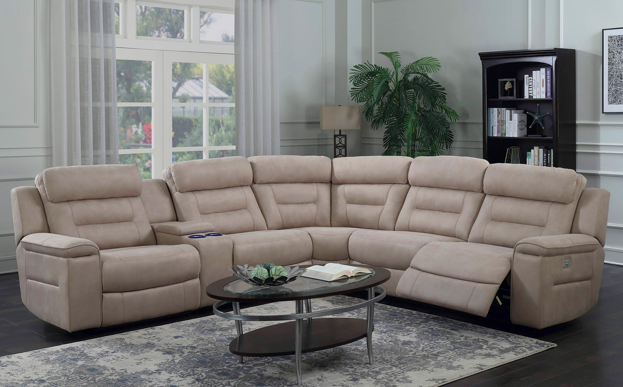 5PC Power Reclining Sectional