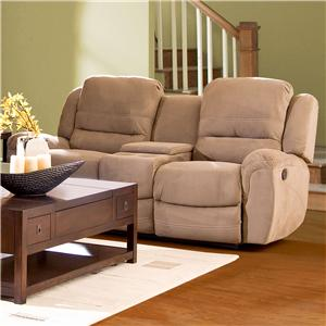 Morris Home Furnishings Lazarus Reclining Console Loveseat
