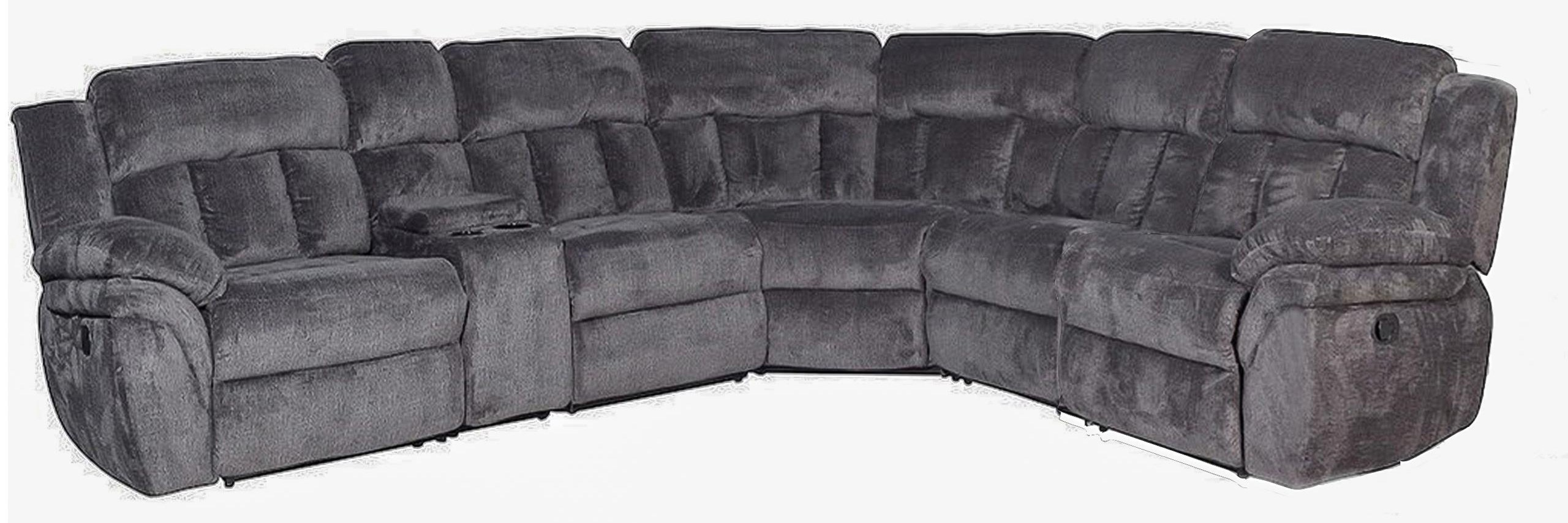 4-Seat Reclining Sectional Sofa w/ Cupholder