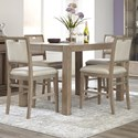 Klaussner International Melbourne 5 Piece Dining Package - Item Number: 680-054+4X680-924