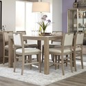 Klaussner International Melbourne 7 Pc Casual Dining Set - Item Number: 680-054+6X680-924