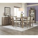 Klaussner International Melbourne Casual Counter Height Dining Room Set - Item Number: 680-054+6X924+892+894