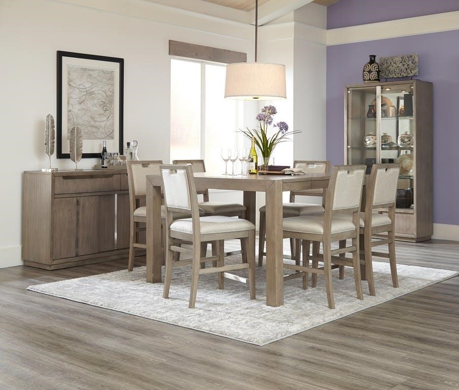 8 Piece Counter Height Dining Set with Serve