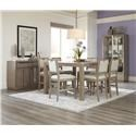 Klaussner International Melbourne 8 Piece Counter Height Dining Set with Serve - Item Number: 680-054+6X680-924+894