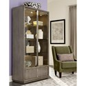 Klaussner International Melbourne Contemporary China Cabinet with Touch Lighting and Mirrored Back
