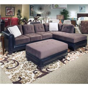 3 Piece Sectional and Ottoman Group