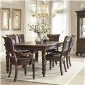 Klaussner International Palencia Dining Table with Turned Legs