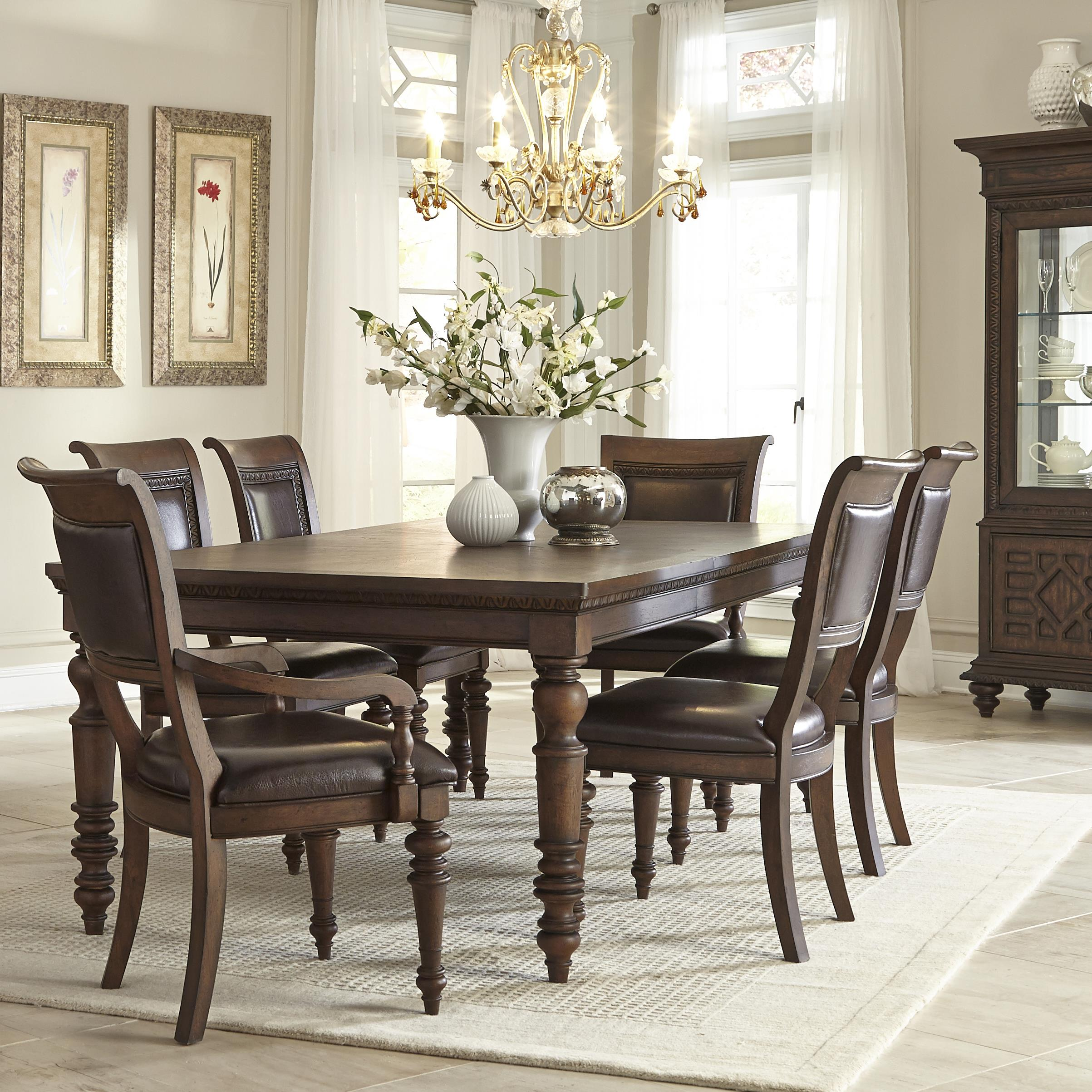 Klaussner International Palencia Rectangular Dining Table with 2