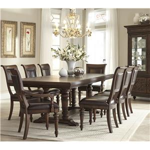 Klaussner International Palencia 9 Piece Table and Chair Set