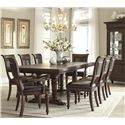 Klaussner International Palencia 9 Piece Table and Chair Set - Item Number: 799-108+2x905+6x900