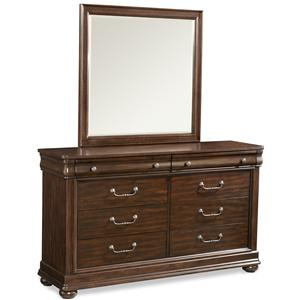 Klaussner International Parkview Dresser and Mirror