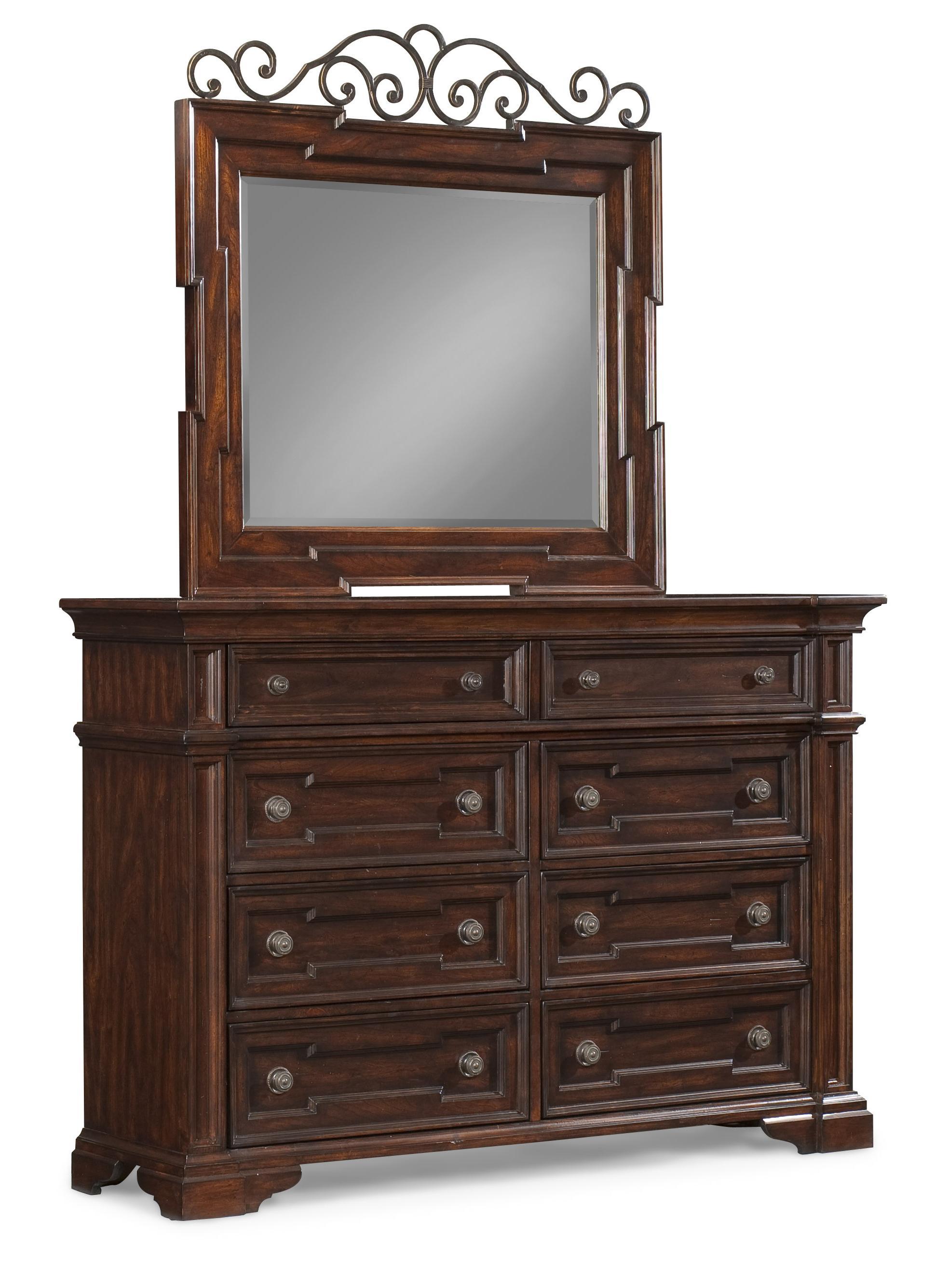 Belfort Basics Chesterbrook Dresser and Mirror Set - Item Number: 872-650 DRES+660 MIRR