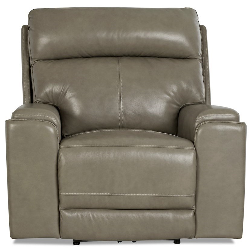 Santana Power Recliner with Power Headrest by Klaussner International at HomeWorld Furniture