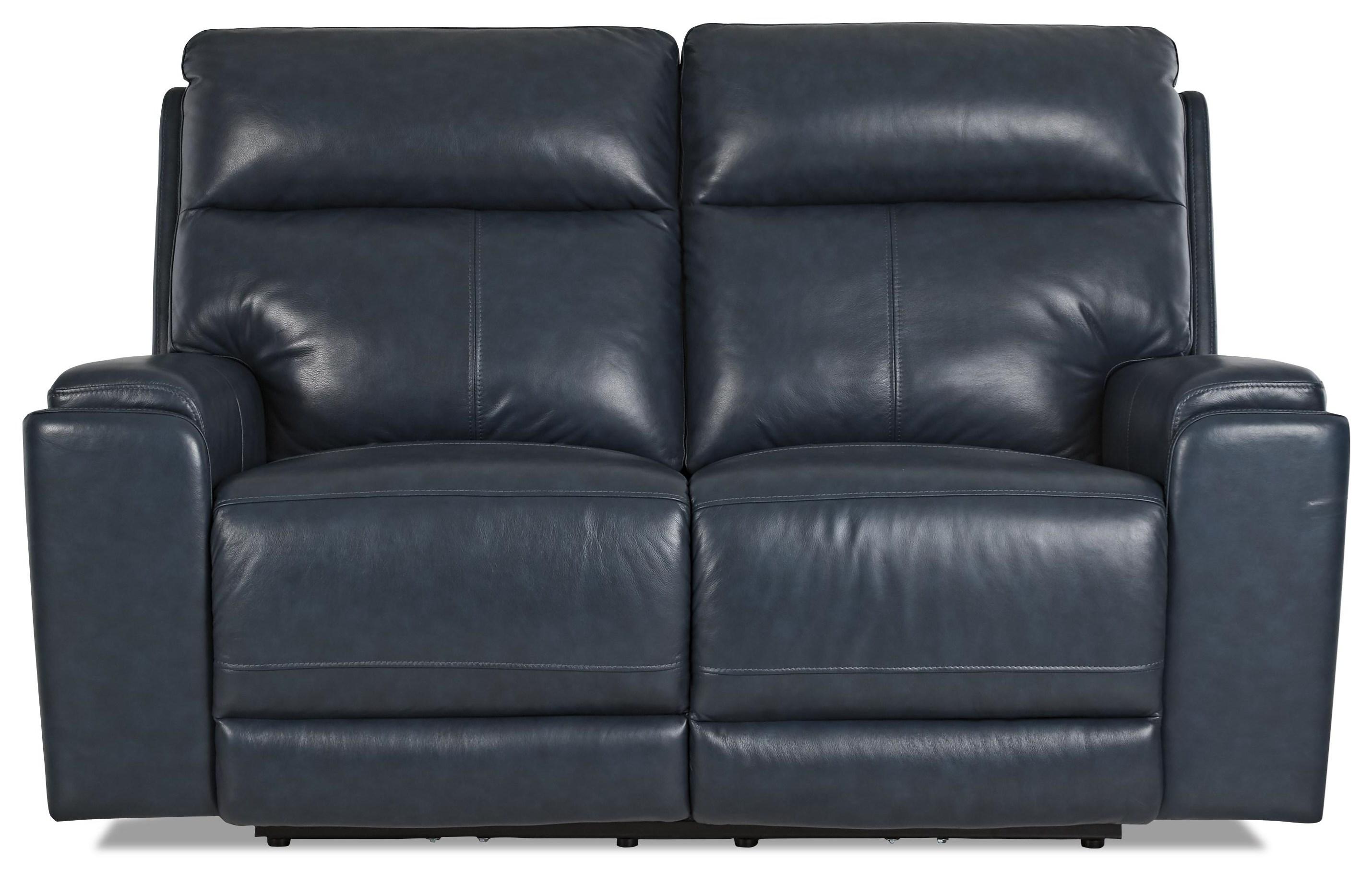 Santana Power Reclining Loveseat w/ Pwr Headrests by Klaussner International at HomeWorld Furniture