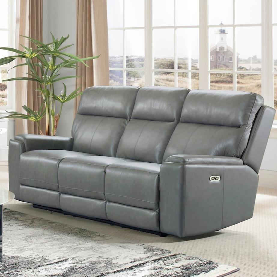 Santana Power Reclining Sofa w/ Pwr Headrests by Klaussner International at HomeWorld Furniture