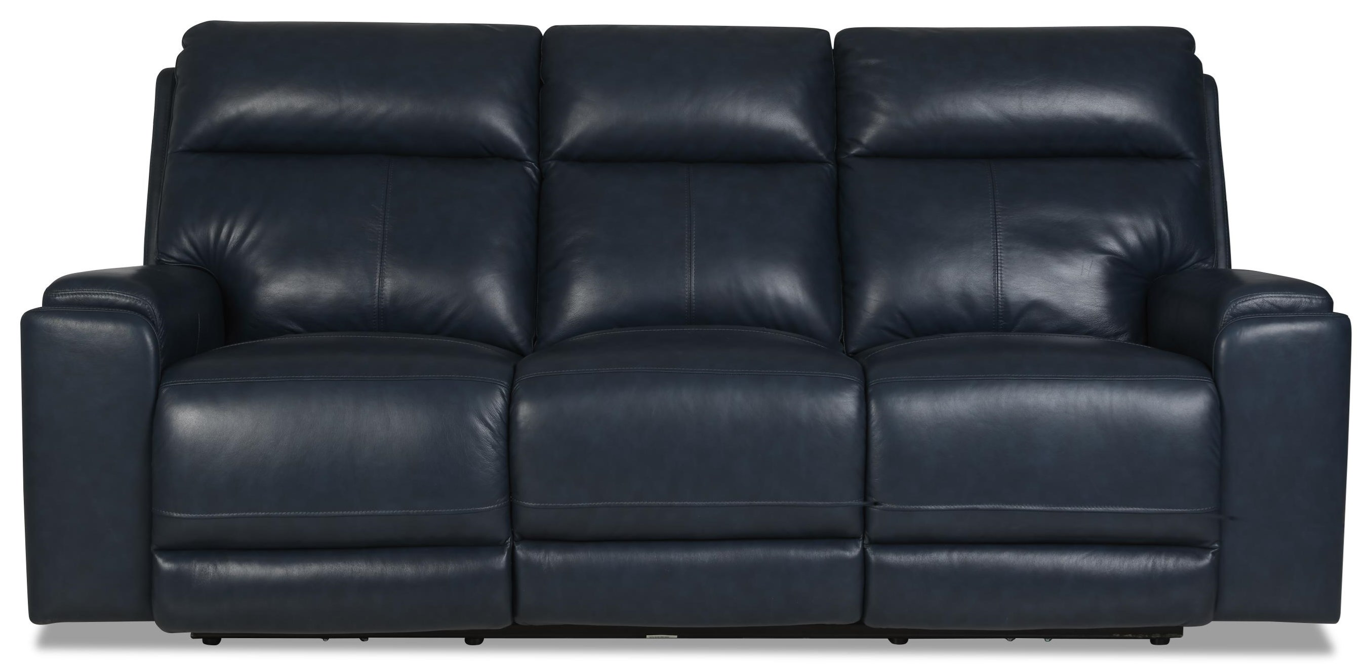 Santana Power Reclining Sofa w/ Pwr Headrests by Klaussner International at HomeWorld Furniture