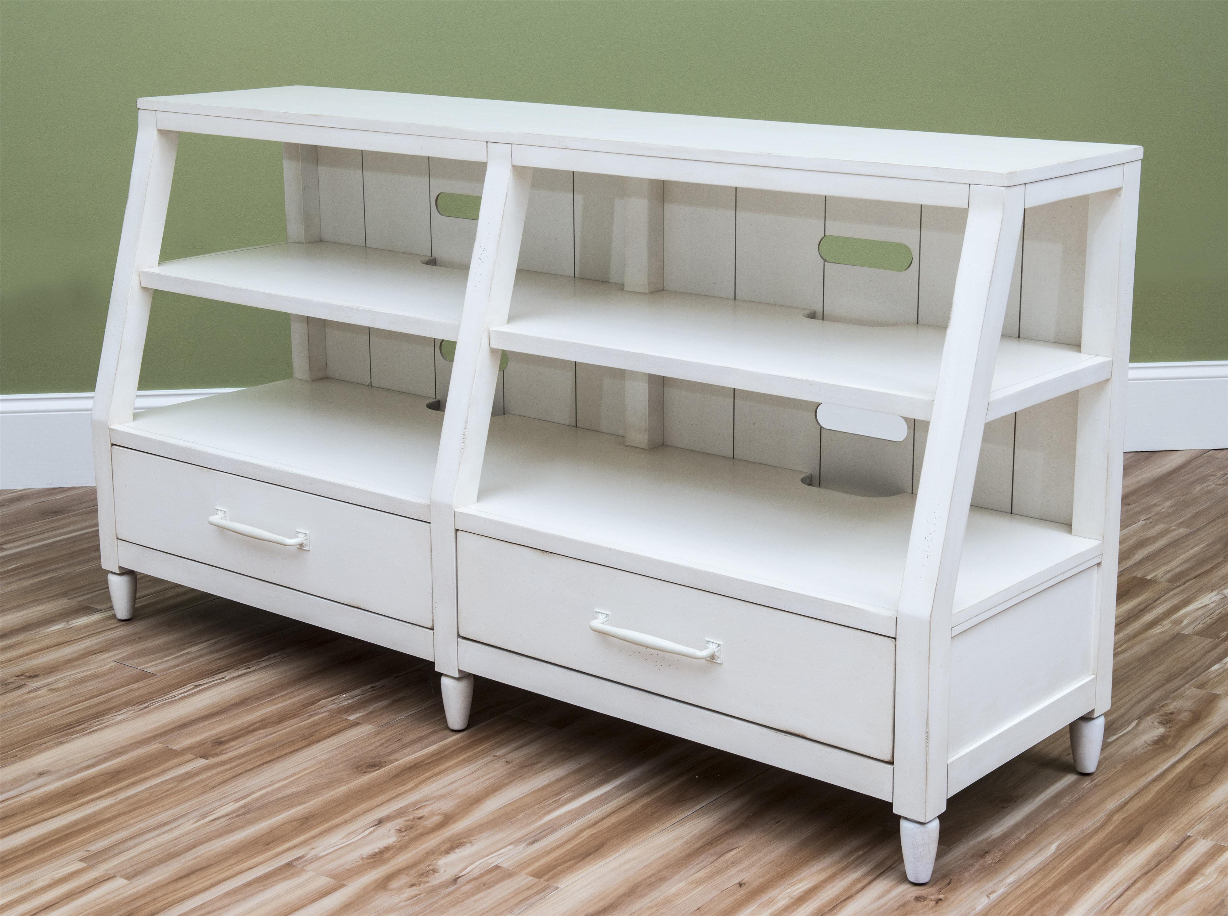 Carolina Preserves by Klaussner Sea Breeze Splish Splash-White Entertainment Console - Item Number: 424-070 CONS