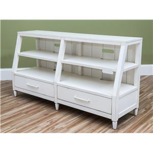 Carolina Preserves by Klaussner Sea Breeze Splish Splash-White Entertainment Console