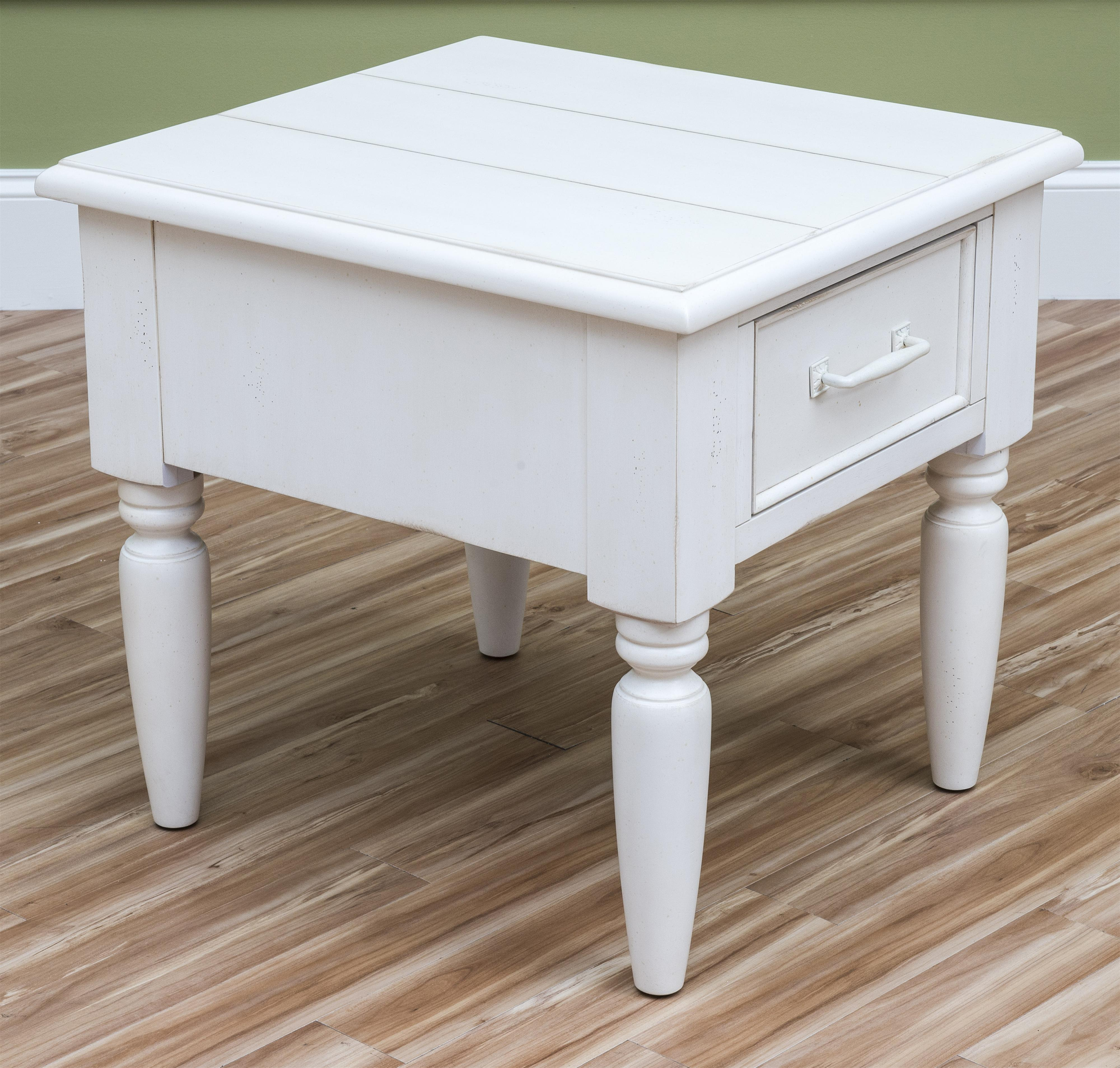Easton Collection Sea Breeze Beachcomber-White End Table - Item Number: 424-809 ETBL