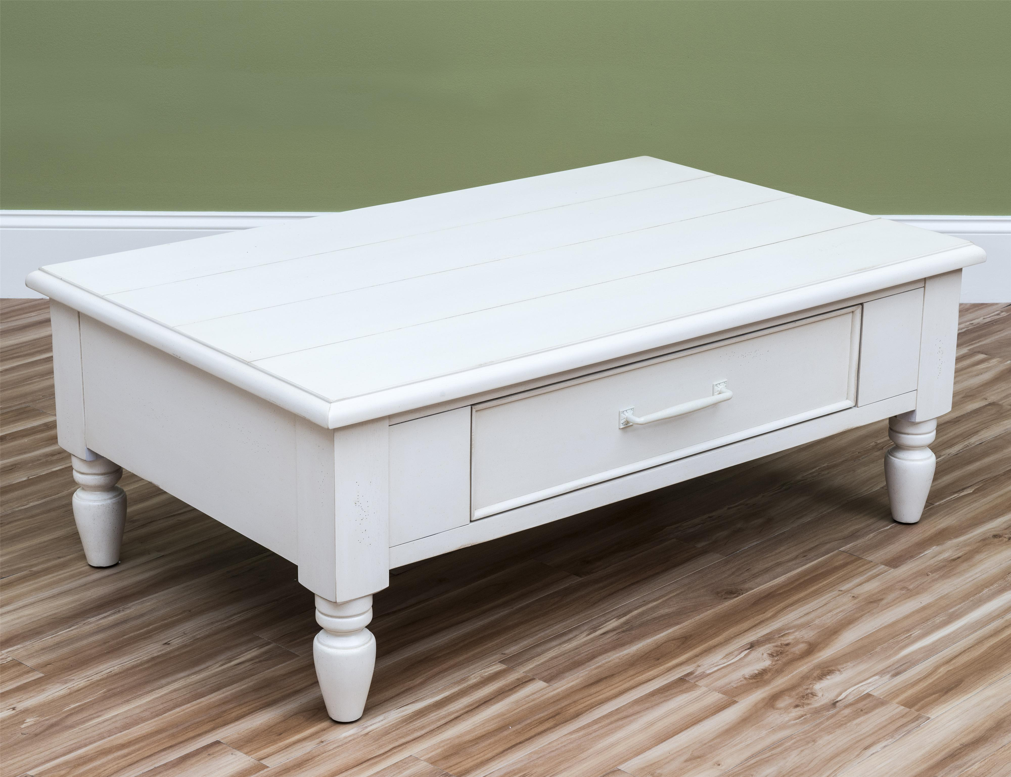 Easton Collection Sea Breeze Beachcomber-White Cocktail Table - Item Number: 424-819 CTBL