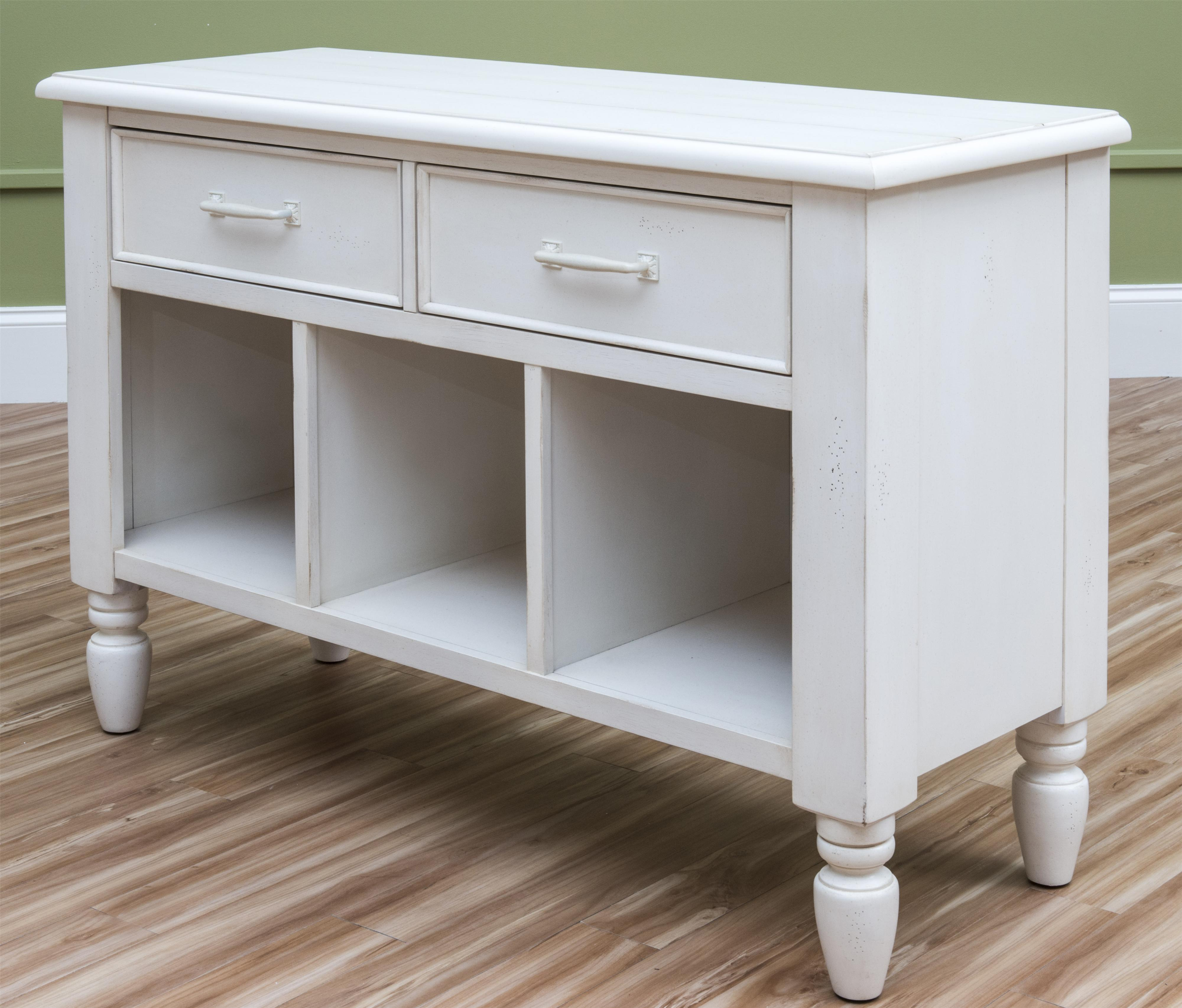 Easton Collection Sea Breeze Beach ber White Sofa Table
