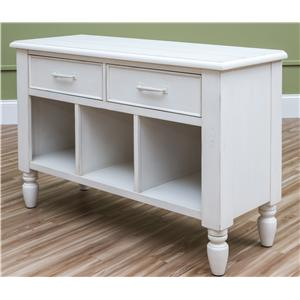 Easton Collection Sea Breeze Beachcomber-White Sofa Table