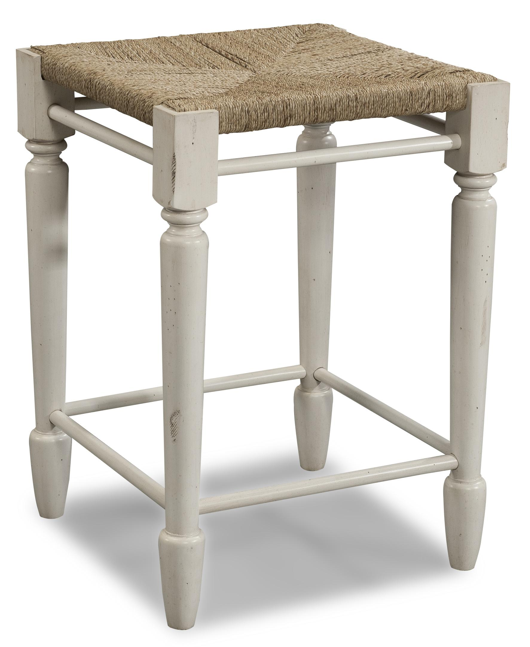 Easton Collection Sea Breeze White Desk Stool - Item Number: 424-920 STOOL