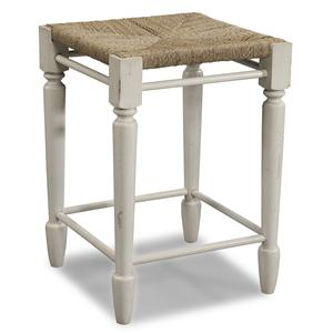 Easton Collection Sea Breeze White Desk Stool
