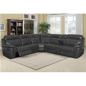 Klaussner International Silas Casual Reclining Sectional Sofa