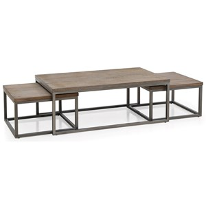 Klaussner International Southport Cocktail Table w/ 2 Nesting Tables