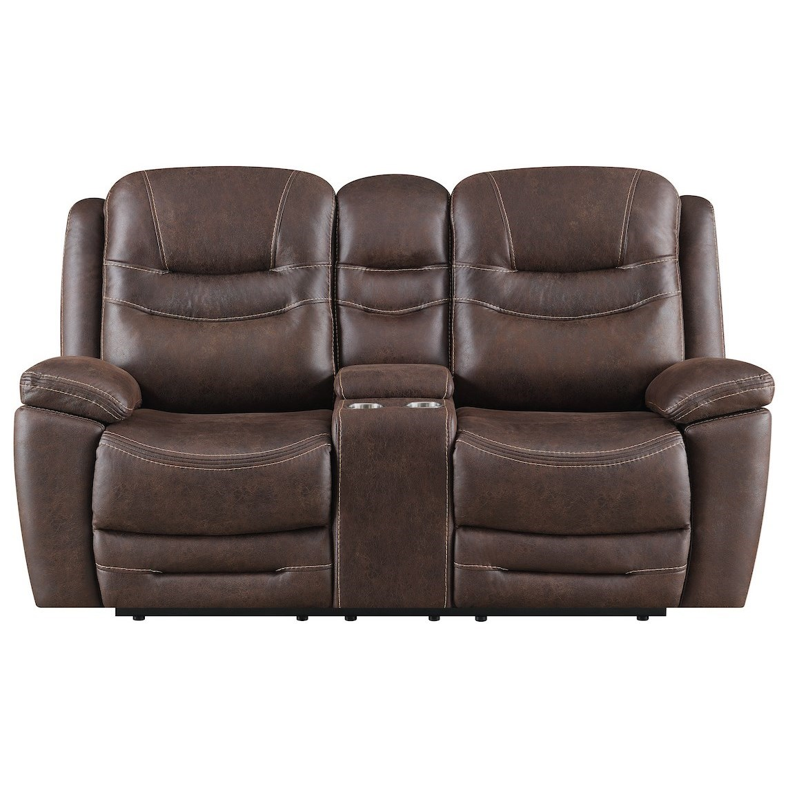 Turismo Power Reclining Console Loveseat at Walker's Furniture