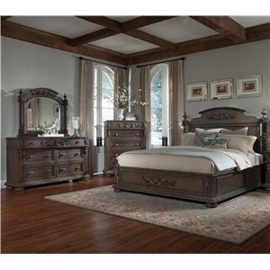 Klaussner International Versailles 4 Piece King Bedroom Group