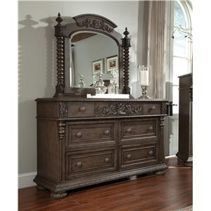 Belfort Basics Virginia Manor Dresser and Mirror Set