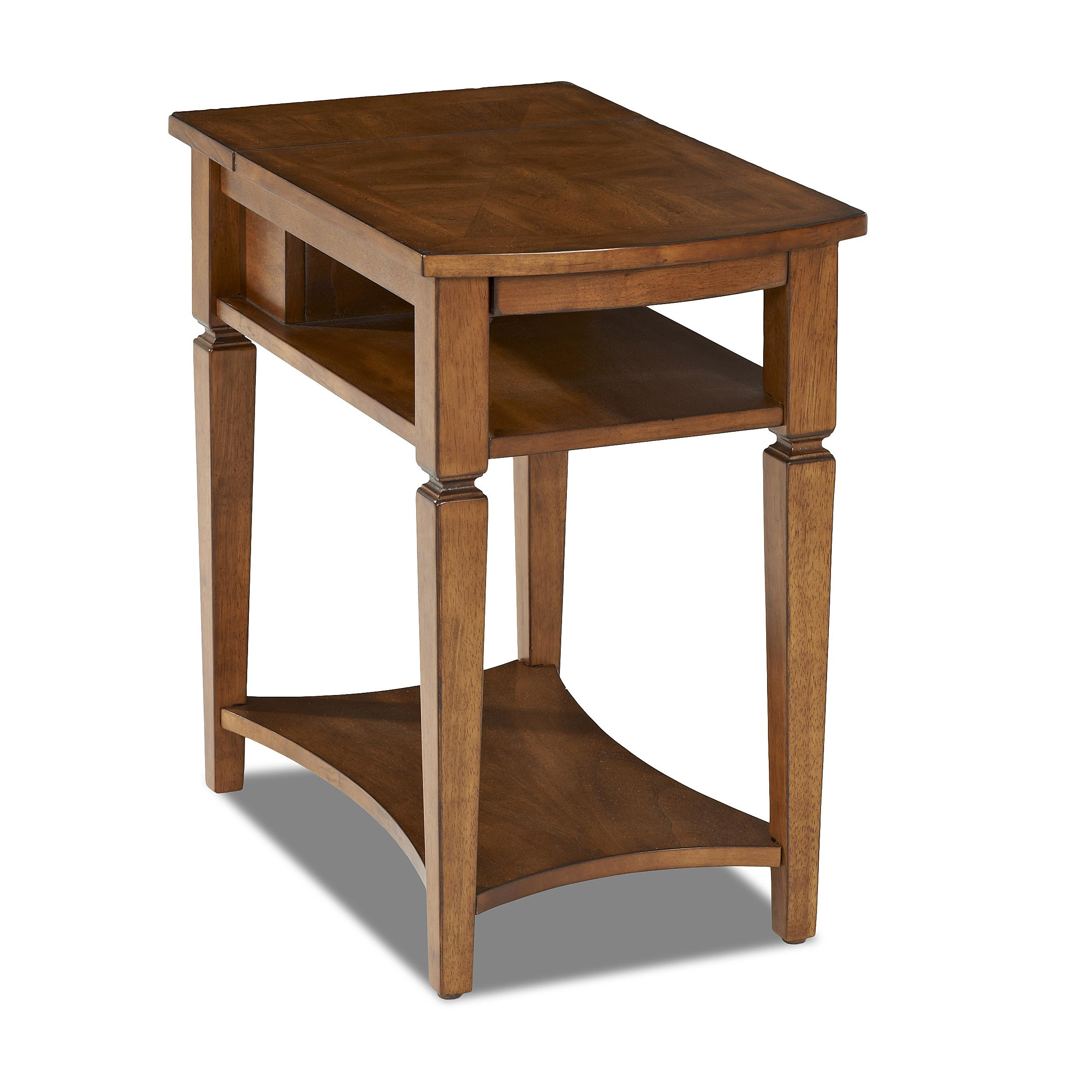 Wentworth Chairside Table With Pull Out Shelf And Power