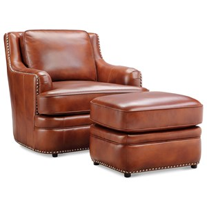 Klaussner International Wheaton Chair & Ottoman Set