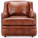 Klaussner International Wheaton Traditional Nailhead Studded Chair and Ottoman Set