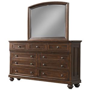 Whittington 7 Drawer Dresser and  Mirror by Klaussner International