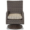 Klaussner Outdoor Cascade Sw Rock Din Chair w/ Drainable Cushion - Item Number: W5000 SRDDR