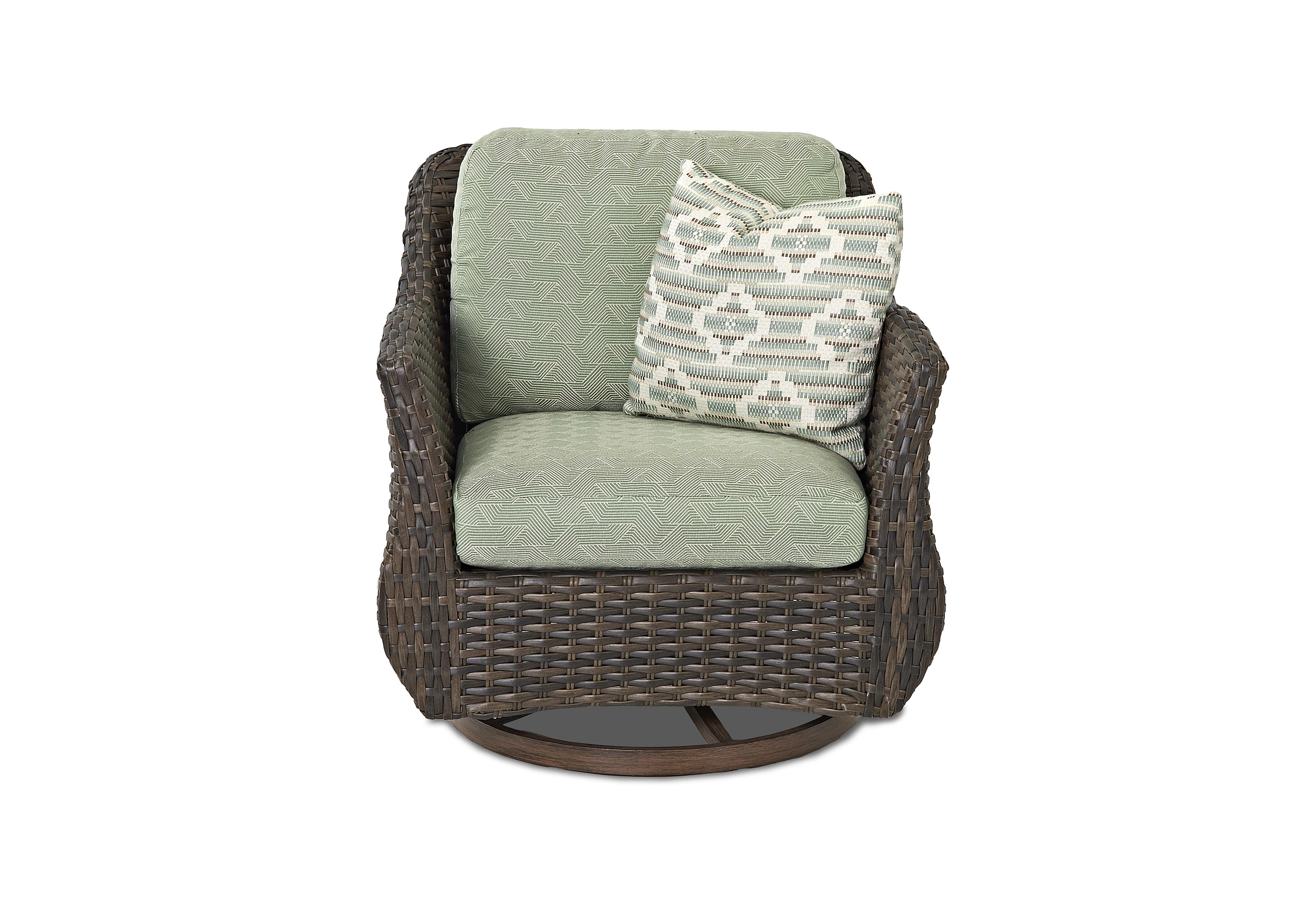 Sycamore Outdoor Swivel Glider Chair by Klaussner Outdoor at Nassau Furniture and Mattress
