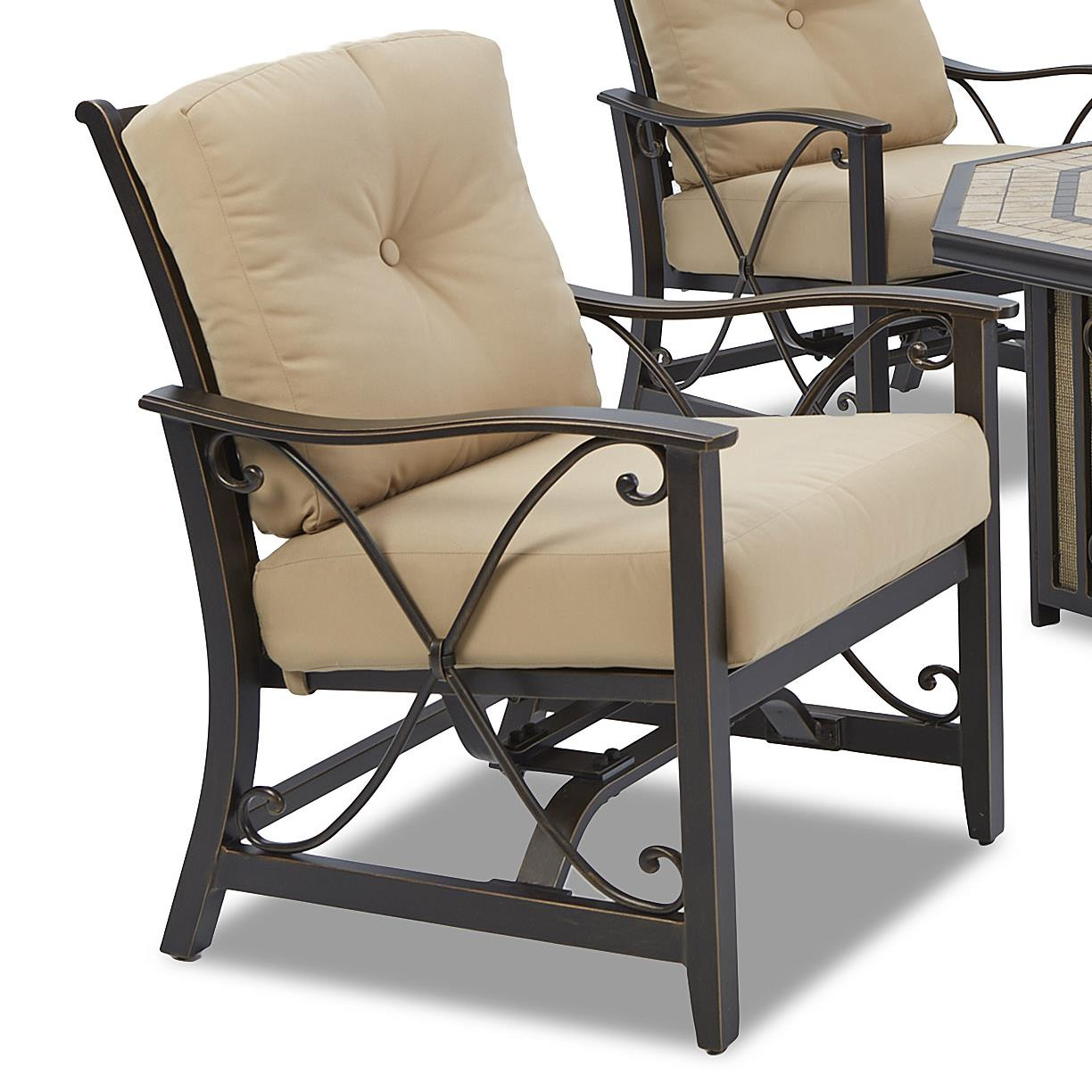 Klaussner Outdoor Embers Cushioned Spring Chair - 2 Pack - Item Number: W6005 C