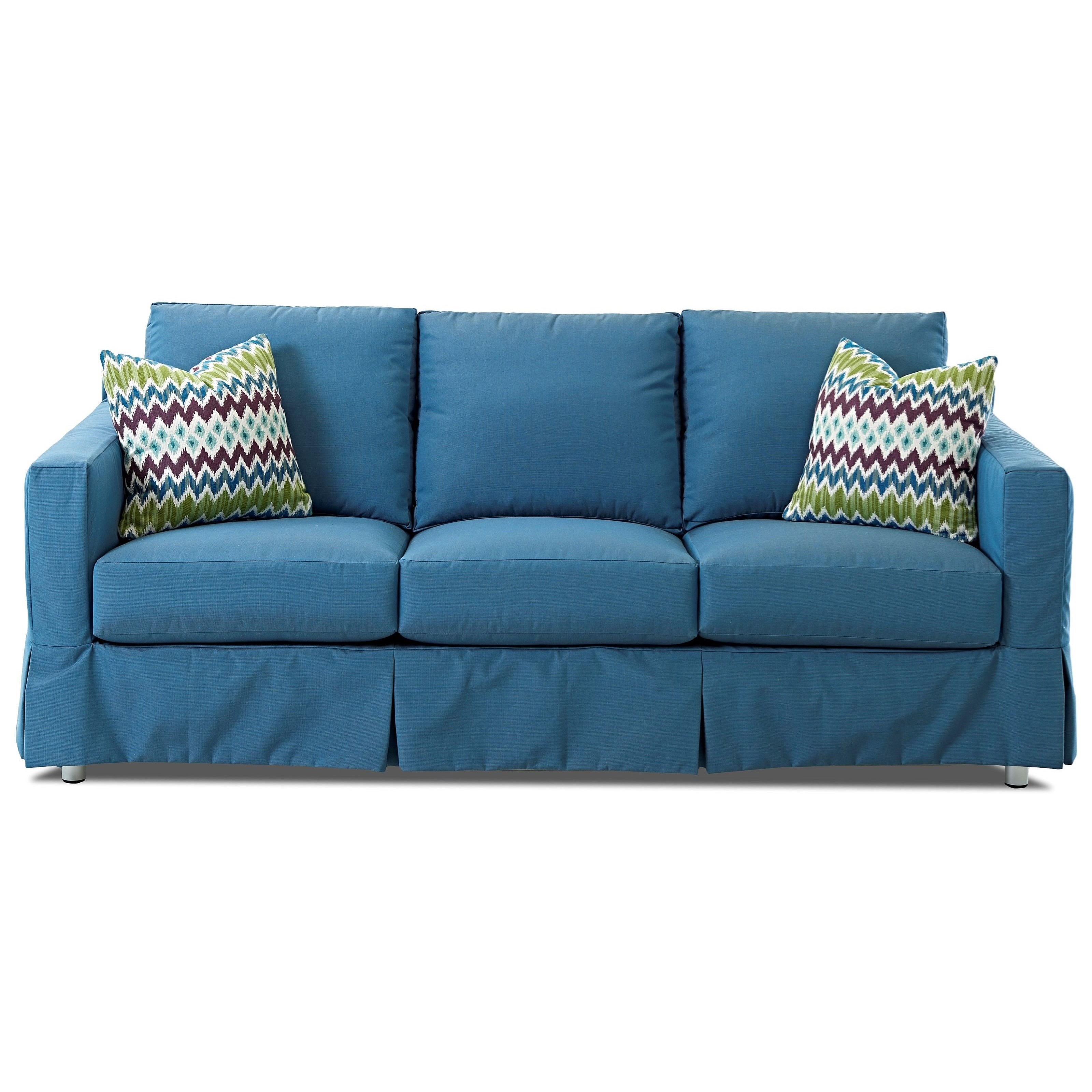 Aspen Outdoor Slipcovered 84 Sofa With