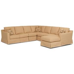 Sectional Sofa w/ RAF Chaise & Revers Cush