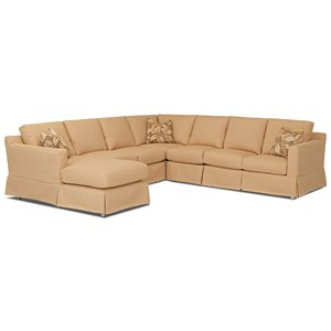Sectional Sofa w/ LAF Chaise & Revers Cush