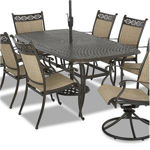 "Klaussner Outdoor Basics 40"" x 72"" Dining Table"
