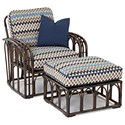 Klaussner Outdoor Capella Chair and Ottoman Set - Item Number: W2000 C+OTTO